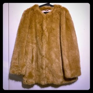 Faux fur Ann Taylor coat